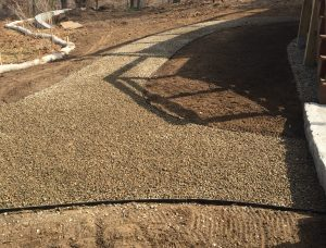 Falmouth Sandwich gravel walkways hardscape contractors Bourne MA